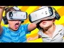 Реакции детей на игру Cyber Space в очках виртуальной реальности (Oculus Rift)