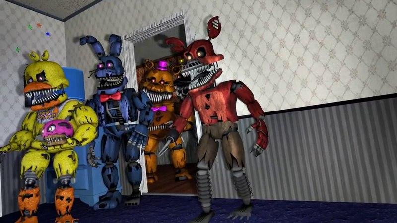 Fnaf Анимация 5 ночей с фредди страшный мультфильм