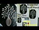 Beautiful Wall Decor Piece Using Foil Paper Cardboard