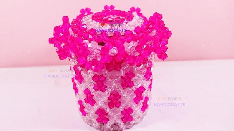 পুতির বক্স/ How to make Beaded ornaments box/beaded tissue box/beaded jewellery box/beaded box