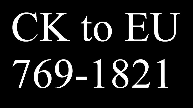 CK2 to EU4 Timelapse 769-1821