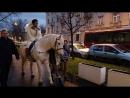Прибытие на лошади