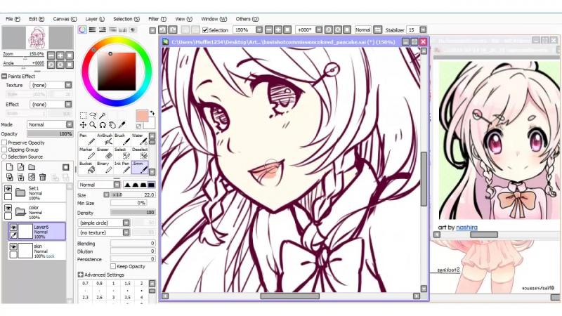 【Speedpaint】- Rin (как рисовать аниме в саи)