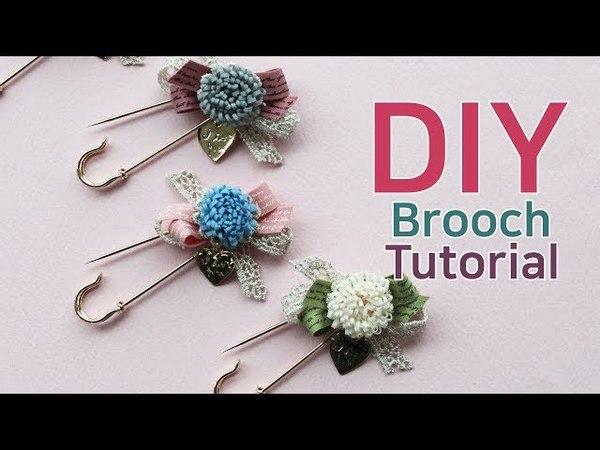 리본공예 DIY/How to make a carnation brooch/brooch tutorial/카네이션브로치/카네이션만들기/브로치만들기/브