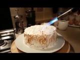 Поджигаю торт