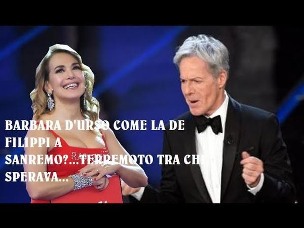 UN TERREMOTO IN MEDIASET...BARBARA D'URSO SCAPPA IN RAI A PRESENTARE IL FESTIVAL DI SANREMO...