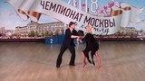 12.5.2018 ЧМ-1 A-class Slow 2 место №210 Сергей Хитянов - Екатерина Новикова