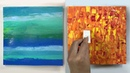 Четыре способа создания текстуры акриловыми красками.