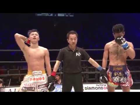 KNOCK OUT, Tenshin Nasukawa (JP) Vs Suakim P.k.saenchai (Thai), 12 Feb 2018,那須川天心 vs スアキム