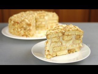 Ленивый НАПОЛЕОН Рецепт торта БЕЗ ВЫПЕЧКИ
