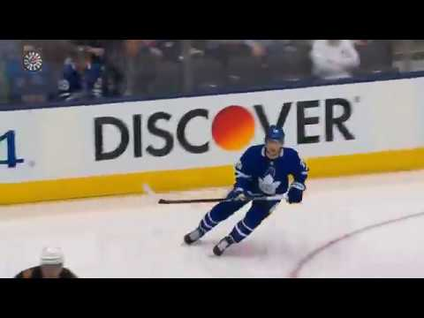 Nylander quickly ties it from Nikita Zaitsev pass in game 6 vs Leafs (2018)