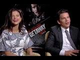 Selena Gomez &amp Ethan Hawke Interview for Getaway