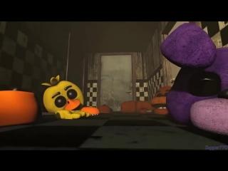[v-s.mobi][FNAF SFM] смерть фиолетового парня в костюме спринг бонни.mp4