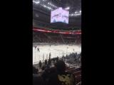 Аквамарин на хоккее