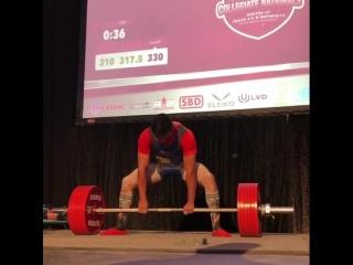 Алекс Махер - тяга 330 кг (74 кг)