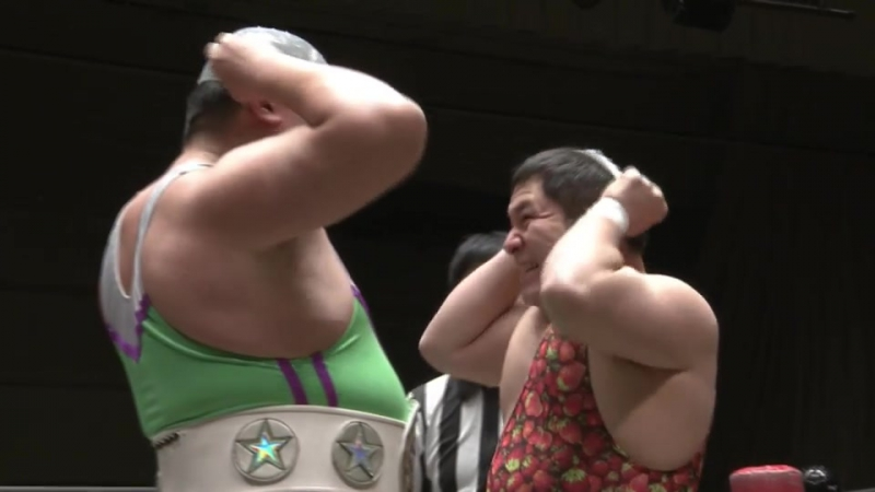 Antonio Honda, Tanomusaku Toba vs. Super Sasadango Machine, Saki Akai (DDT - D-Ou Grand Prix 2018 - Day 8)