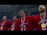Наша сборная поет гимн России