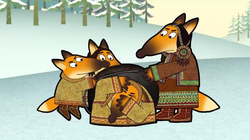 42. Гора самоцветов - Похождения лиса (Adventures of Fox) Эвенкийская сказка