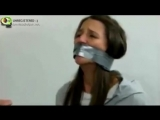 Pamela Ruz bound and wrap gagged