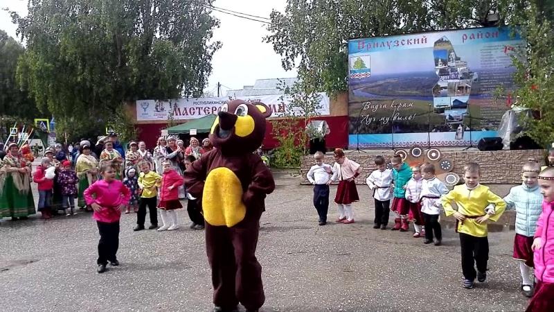 Танец с медведем на празднике Луза дорса гаж