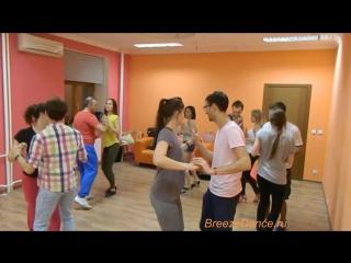 Сальса с Виталием Гудименко, руэда на продвинутой группе в Breeze Dance