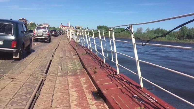 Понтонный мост в Спасск Рязанском