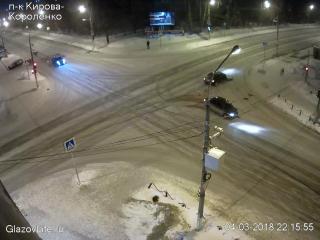 Авария на перекрестке Кирова-Короленко 04.03.2018