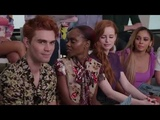 The cast of Riverdale Live on Facebook