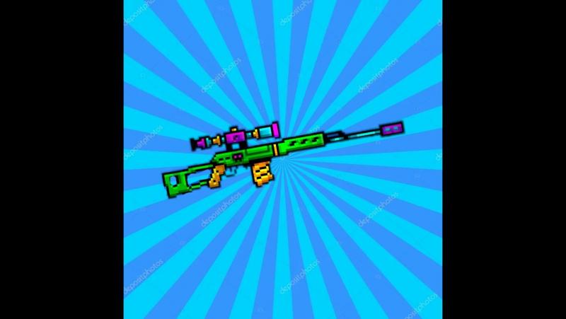 Пиксель ган 3д. Обзор на Адамантовая снайперская винтовка