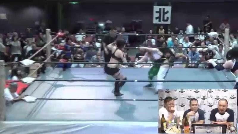 Hibiscus Mii, Maika Ozaki, Totoro Satsuki vs. Rina Yamashita, Makoto, Mari (Kansai Pro-Wrestling Collection ver. 2)