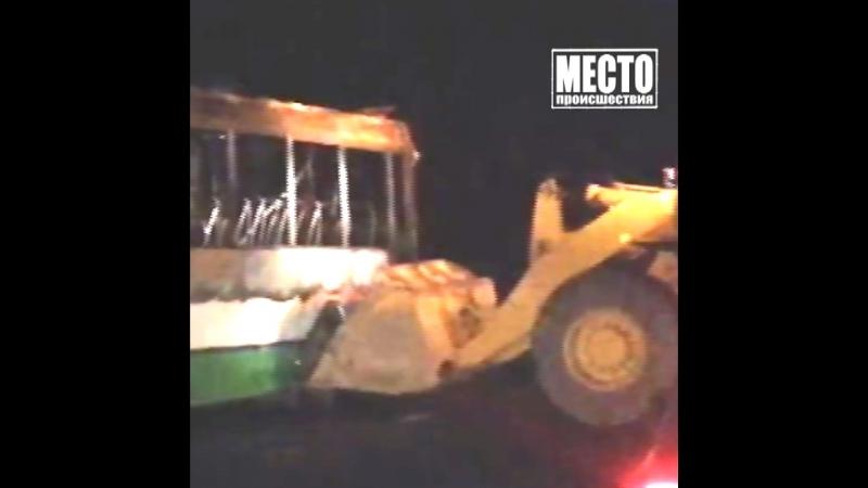 Сгорел автобус в Слободском районе