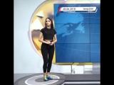 ЧМ2018 - Сербская телеведущая показала, как надо бить по мячу в прямом эфире️