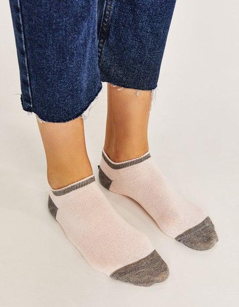Короткие носки с металлизированной нитью