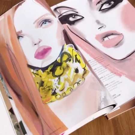 "Astrid Vos Fashion-Art on Instagram ""Alert Redhead Beauty @alexinagraham @lorealmakeup @lorealhair And Kate forever @katemossagency 🖤 @dorogoe_gl..."
