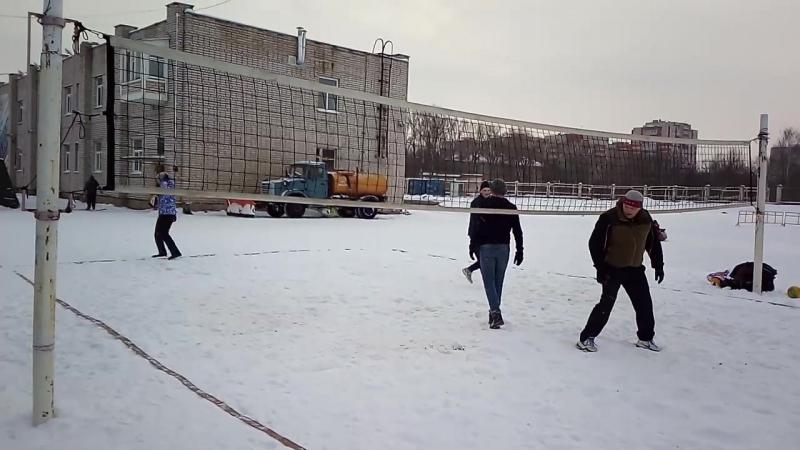 Турнир по снежному волейболу 21.01.18