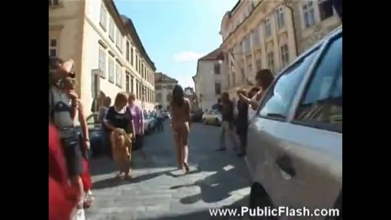 Jirina nude in public