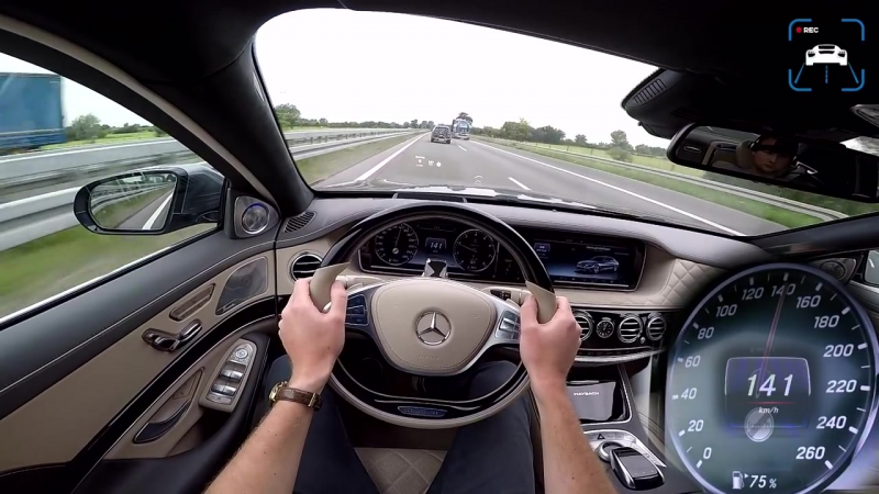 MERCEDES MAYBACH 6 0 V12 BiTurbo ACCELERATION TOP SPEED AUTOBAHN POV by AutoTo