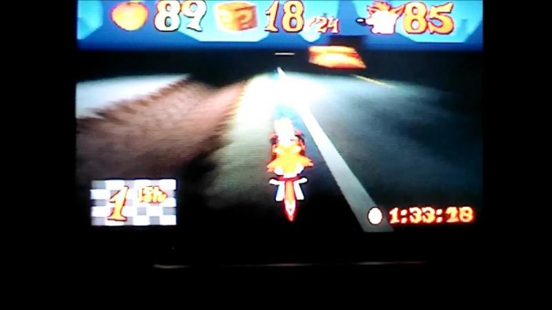 Crash Bandicoot 3Warped (NTSC-J).Area 51.Passage on 2 gemPlatinum Relic,неофициальный WR в версии NTSC.13576.
