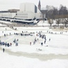 "Save Pond Hockey on Instagram: ""World's first rotating hockey game was played in Helsinki on 24th of March 2018 - As an organizing partner we had l..."