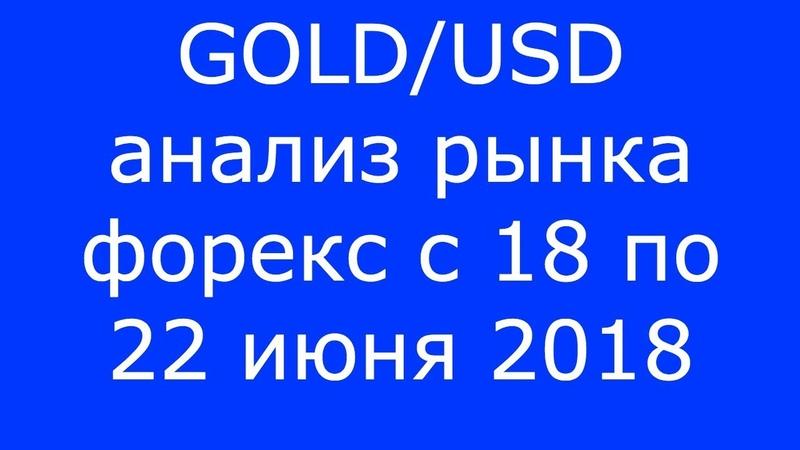 GOLDUSD - Еженедельный Анализ Рынка Форекс c 18 по 22.06.2018. Анализ Форекс.