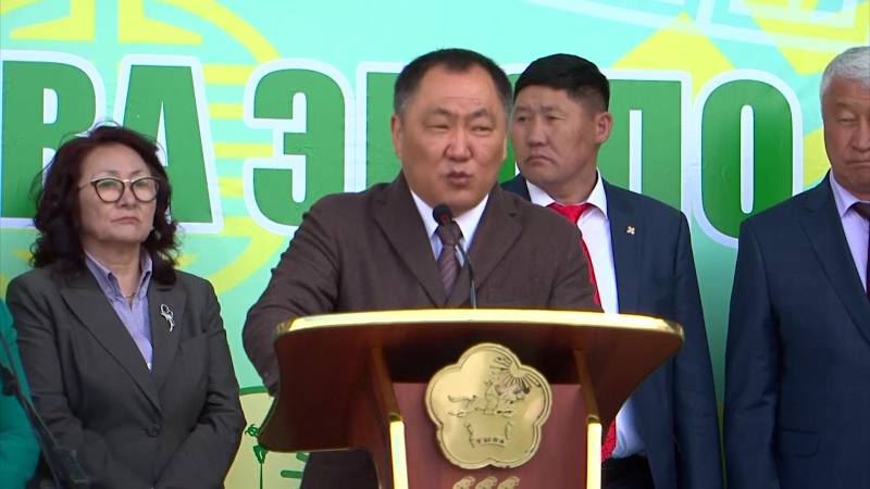 Монгольская делегация на выставке Тываэкспо