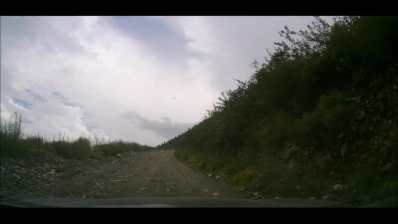 часть подъёма в перевал Кату-Ярык на HONDA RAFAGA