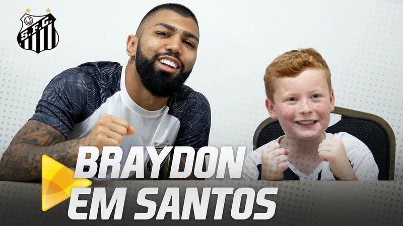 Braydon Bent conhece o Santos FC