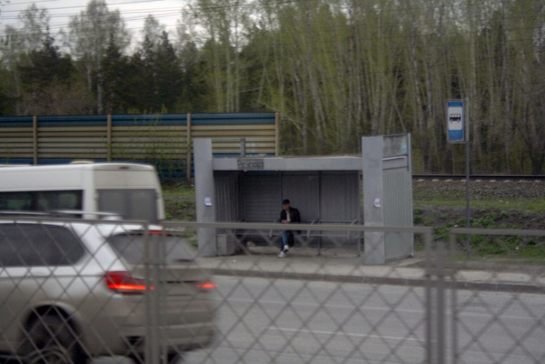 Вид остановок в Новосибирске