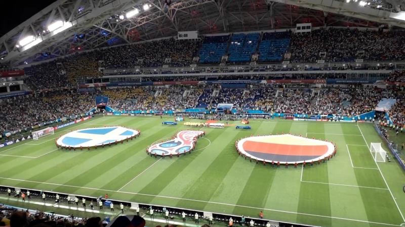 Швеция Германия Открытие матча