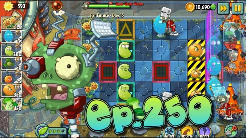 Plants vs. Zombies 2 || Survive and protect plants - Far Future Day 15 (Ep.250)