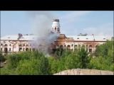 Момент падения башни ИжМаша/Автор - Владимир Ларионов