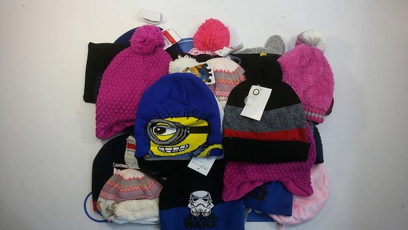 Children Winter Accessories (3 kg) - детские шапки, шарфы, перчатки сток 13 пакетов