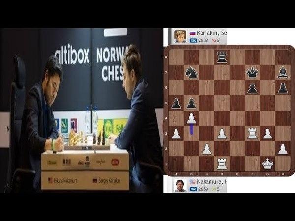 Hikaru Nakamura Destroy Sergey Karjakin - Altibox Norway Chess Blitz 2018 Round 3
