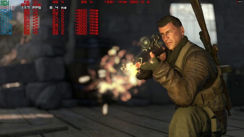 Sniper Elite 4 dx12 2k,1440p gameplay rx vega 64 liquid